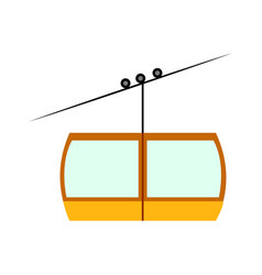 Side view of a cableway vector