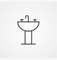 sink icon sign symbol vector image