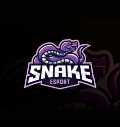 snake mascot sport logo design vector image