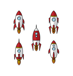 Space ship rocket vector