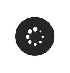 spinner dots icon vector image