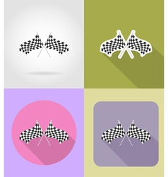 Sport flat icons 35 vector