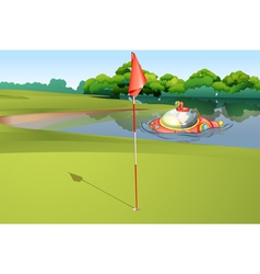 Sumbarine at Golf Course vector image vector image