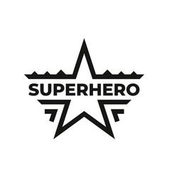 Superhero icon or symbol design vector