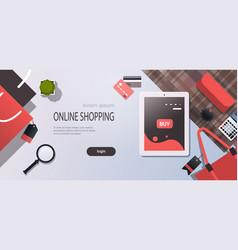 tablet screen sale mobile application online vector image