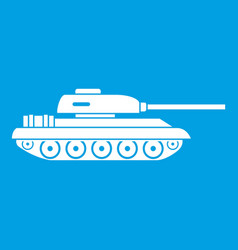 Tank icon white vector