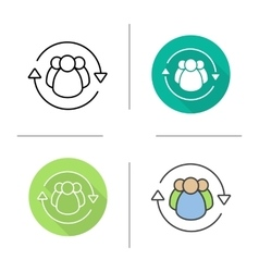 Team management icons vector image