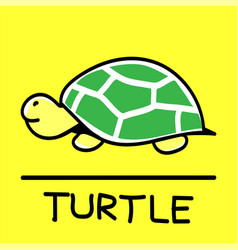 Turtle hand-drawn style vector
