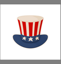 uncle s sam hat pattern isolated on white bakdrop vector image