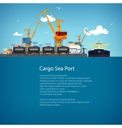 Unloading Oil from the Tanker and Text vector image