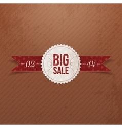 Valentines Day Big Sale realistic paper Emblem vector