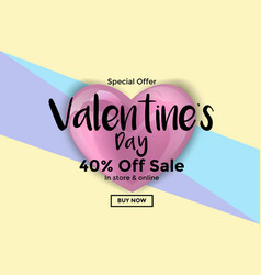 Valentines day card or sale banner 5 vector