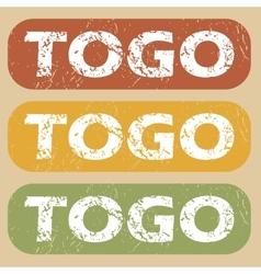 Vintage togo stamp set vector