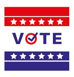 vote us american presidential election 2020 vector image