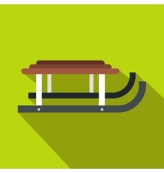 Winter sled icon flat style vector