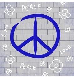With hippie logo background vector