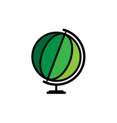 world globe icon world icon isolated on vector image