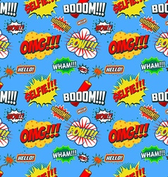 Wow seamless pattern Seamless pattern with comic vector