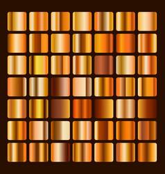 collection metallic bronze and golden gradient vector image