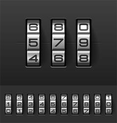 Combination code lock numbers vector image