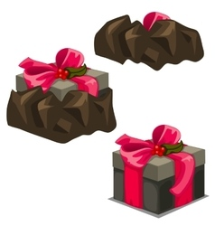 Game release gift box from the trap three stages vector image