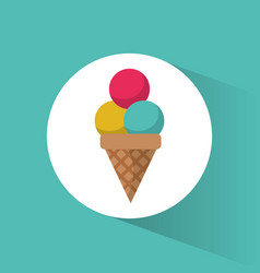 ice cream cold sweet delicious vector image