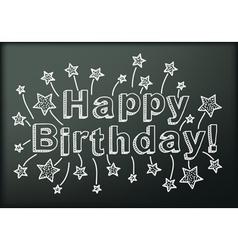 Blackboard with Happy Birthday vector image vector image