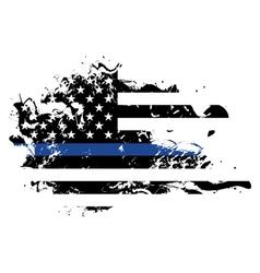 Police Support Grunge Flag vector image
