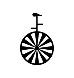 vintage unicycle circus vector image