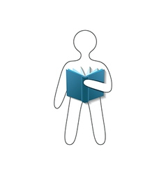 Book reader conceptual sign vector image vector image