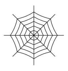 spiderweb icon isolated on white background vector image
