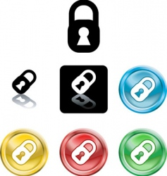 stylised padlocks vector image