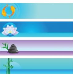 zen banners vector image vector image