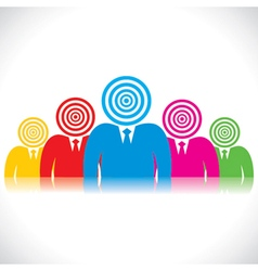 business people with archery head vector image