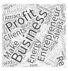 entrepreneur profit Word Cloud Concept vector image