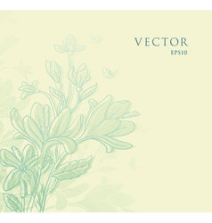 flowers vintage vector image vector image