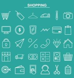Linear shopping icon for website and app vector image vector image
