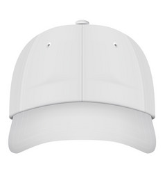 realistic front view white baseball cap isolated vector image