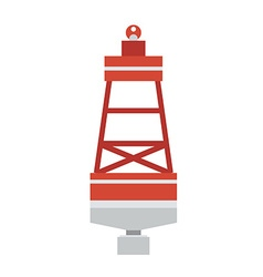 Sea Buoy Float Icon vector image vector image