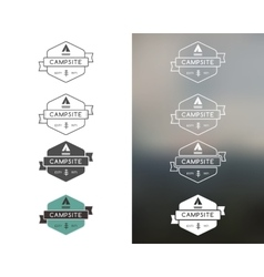 Set of outdoor adventure and forest camp hiking vector image vector image