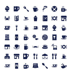 49 cafe icons vector