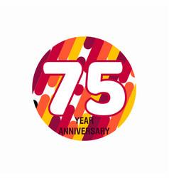75 year anniversary purple template design vector
