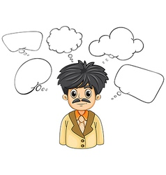 A business-minded person with many empty thoughts vector image