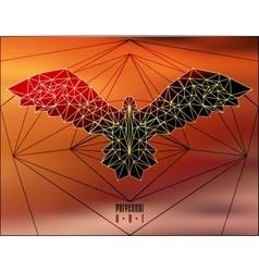 Abstract polygonal bird vector