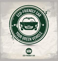 Alternative eco friendly car stamp vector