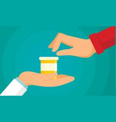 Antibiotic treatment concept background flat vector