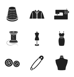 Atelie set icons in black style Big collection of vector