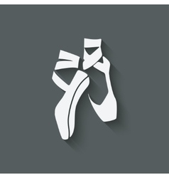 ballet dance studio symbol vector image