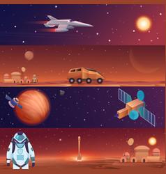 Banners space flight vector
