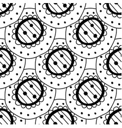 Black and white seamless pattern decorative vector